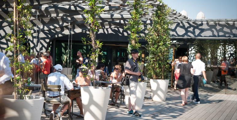 Le restaurant le m le de g rald passedat au mucem for Restaurant le jardin marseille