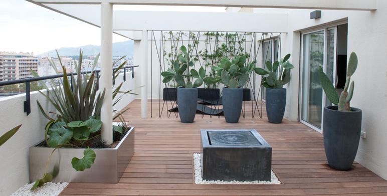 Stunning amenagement terrasse contemporaine ideas for Amenagement jardin contemporain