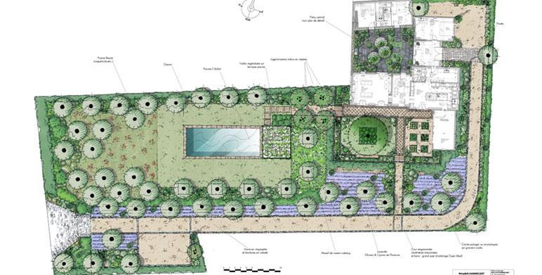 Jardin aux essences m diterran ennes eygali res for Plan amenagement jardin rectangulaire