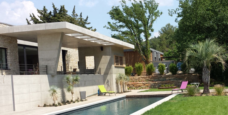 jardin contemporain au pied de la sainte victoire tholonet architecte paysagiste thomas. Black Bedroom Furniture Sets. Home Design Ideas