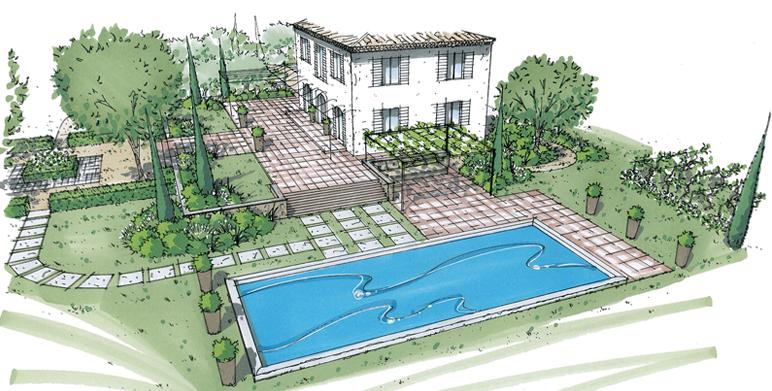 Perspectives architecte paysagiste thomas gentilini for Architecte exterieur jardin