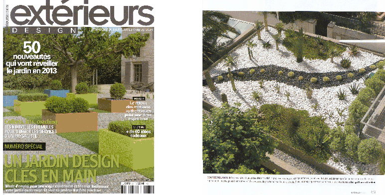 Magazine outdoor ext rieur design architecte paysagiste thomas gentilini cr ation et for Jardin exterieur design