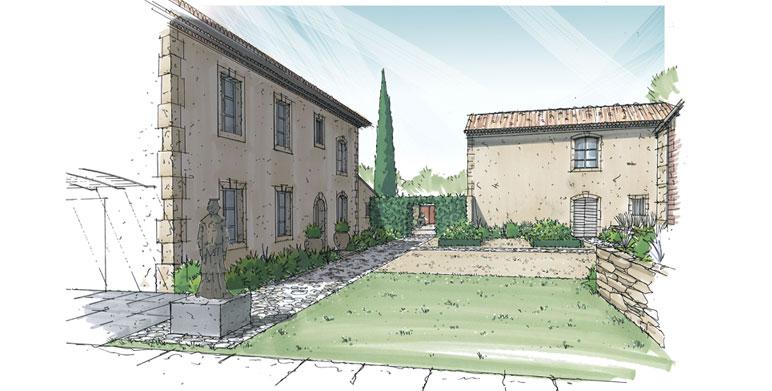 Jardin contemporain aux inspirations asiatiques st r my de provence architecte paysagiste for Architecte paysagiste marseille